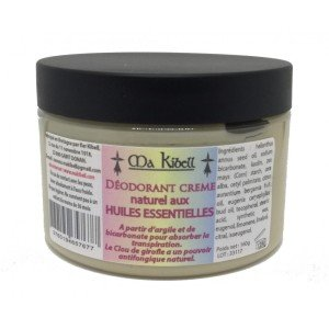 Déodorant crème aux actifs naturels.